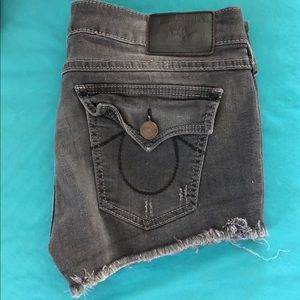 True Religion Vintage Black Joey Shorts